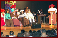 Scene from stage play 'Amen Corner'