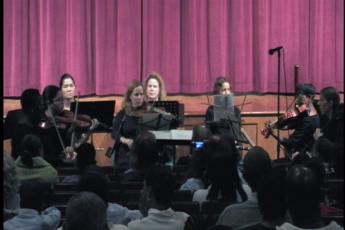 Old Bridge Chamber Orchestra Warms Up Before Curtain